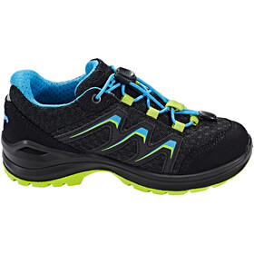 Lowa Maddox Low Shoes Junior black/lime